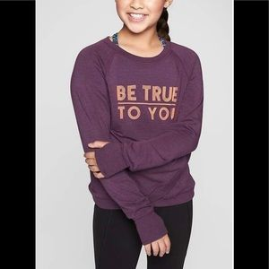 Criss Cross My Heart Sweatshirt Regal Plum Be True